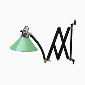 Industrielle österreichische Scherenwandlampe, 1940er