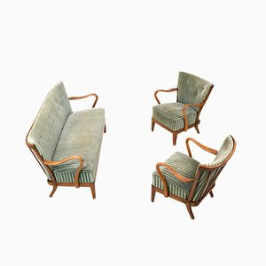 Living Room Set from Slagelse Møbelværk, 1930s, Set of 3
