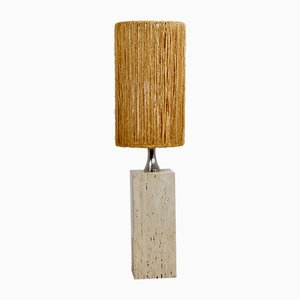 Mid-Century Italian Travertine Floor Lamp, 1960s