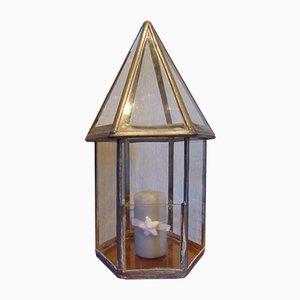 Candelabro vintage de vidrio