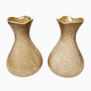 Keramikvasen von Campi Antonia für S.C.I. Laveno, 1950er, 2er Set