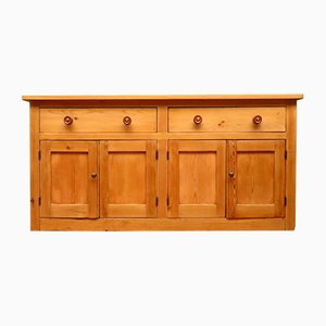 Antique English Victorian Pine Sideboard