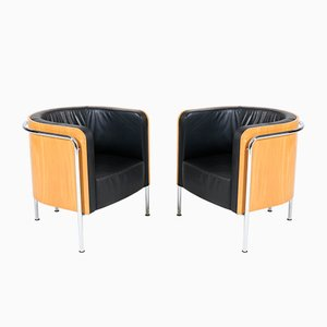Bauhaus Style German Club Chairs from Thonet, 2000s, Set of 2
