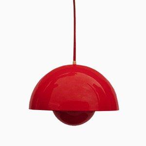 Lampe à Suspension Flowerpot par Verner Panton pour Louis Poulsen, années 70