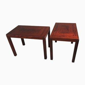 Tavolini in mogano di Vejle Stole Møbelfabrik, Danimarca, anni '70, set di 2