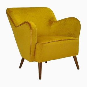 Mid-Century Velvet Armchair