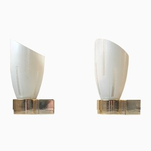 Scandinavian Bathroom Sconces, 1960s, Set of 2