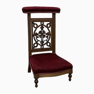 Antiker Beistellstuhl aus Nussholz