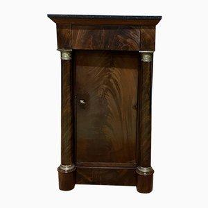 Antiker Empire Nachttisch aus Mahagoni & Marmor