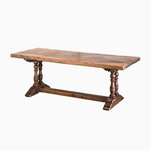 Antique French Oak Side Table, 1910s