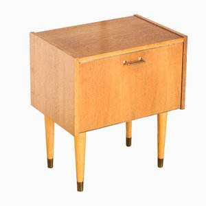 French Oak Nightstand, 1960s