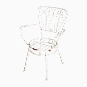 Französische Gartenstühle aus lackiertem Eisen, 1960er, 4er Set