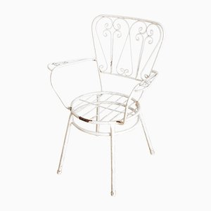 French Painted Iron Garden Chairs, 1960s, Set of 4