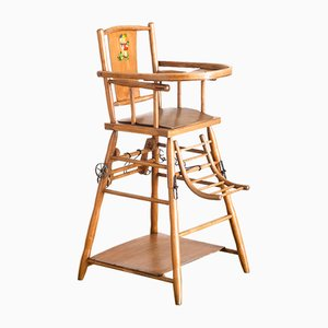 French Beech Childrens Chair, 1960s