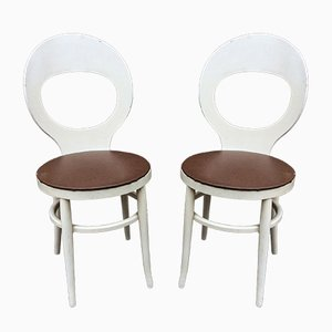 Vintage Model Mouette Side Chairs from Baumann, 1950s, Set of 2