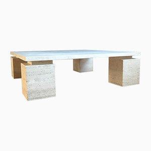 Table Basse en Travertin, Italie, années 70