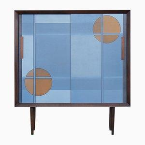 Scandinavian Modern Hand-Painted Cabinet, 1960s