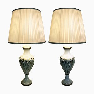 Vintage Ceramic Table Lamps, Set of 2