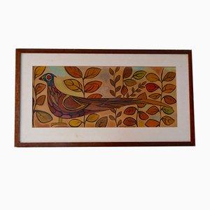 Vintage Holzschild, 1950er