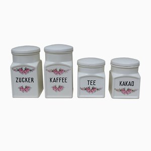 Art Deco Ceramic Jars from Max Roesler, Set of 4