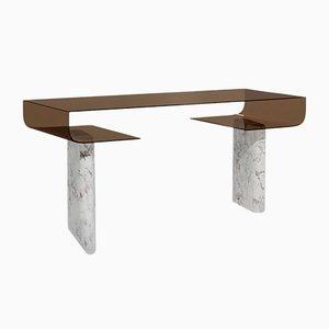 Italienischer Schreibtisch aus Marmor & pigmentiertem Harz von Sors