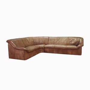 Canapé d'Angle en Cuir, années 70