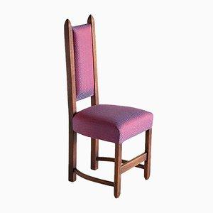Vintage Amsterdam Oak School Chairs, Set of 4