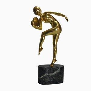 Art Deco Bronze Percussion Skulptur von Demeter Chiparus, 1920er