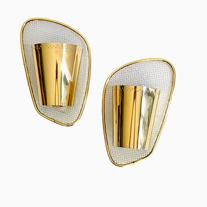 Brass Sconces, 1950s, Set of 2