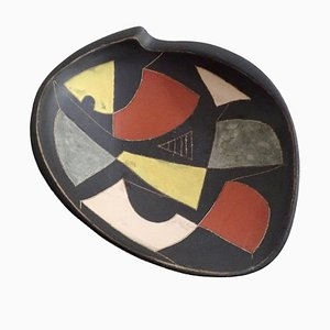 German Modernist Abstract Bowl from Ruscha, 1950s