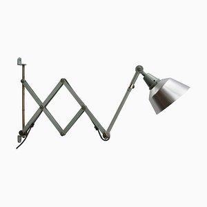 Lampe Ciseaux Murale Industrielle Mid-Century par Curt Fischer pour Midgard / Industriewerke Auma