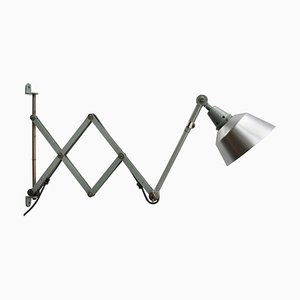 Mid-Century Industrial Wall Scissor Light by Curt Fischer for Midgard / Industriewerke Auma
