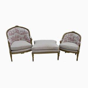 Antikes modulares Napoleon III Sofa