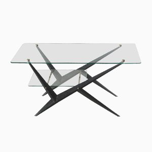 Double Glass Coffee Table by Angelo Ostuni, 1950s