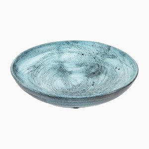 Blue Pottery Plate by Rossicone, 1960s
