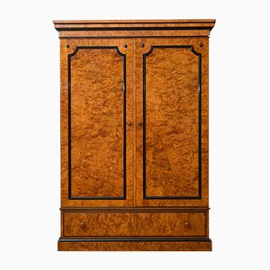 Antique Victorian Burr Elm 2 Door Wardrobe by Lamb of Manchester