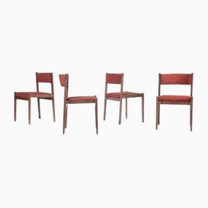 Modell 105 Esszimmerstühle von Gianfranco Frattini für Cassina, 1950er, 8er Set