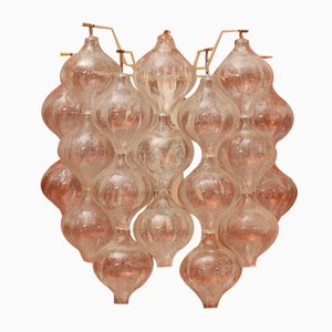 Tulipan Kristallglas Wandleuchten von JT Kalmar für Kalmar, 1960er, 2er Set