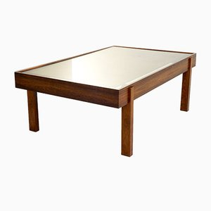 Rosewood & Gold Leaf Coffee Table, 1960s