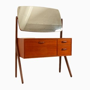 Vintage Danish Teak Dressing Table by Sigfred Omann for Ølholm Møbelfabrik, 1960s