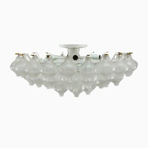 Large Glass Tulipan Flush Mount by J. T. Kalmar for Kalmar, 1970s