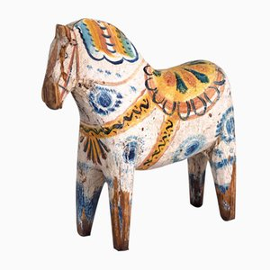 Antique Painted Wood Horse