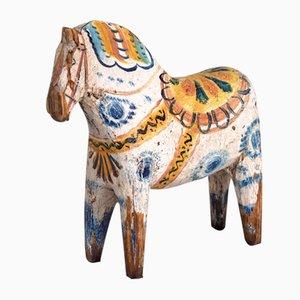 Bemaltes Antikes Pferd aus Holz