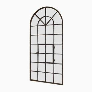 Industrieller Vintage Spiegel mit Schwarzem Fensterrahmen