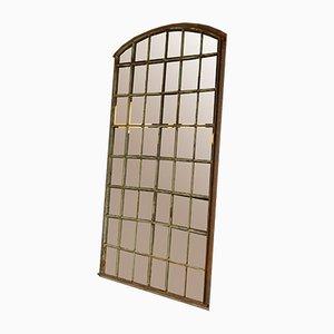 Industrieller grüner Mid-Century Fensterspiegel