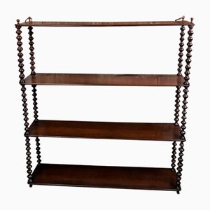 Antique Louis Philippe Mahogany Shelf