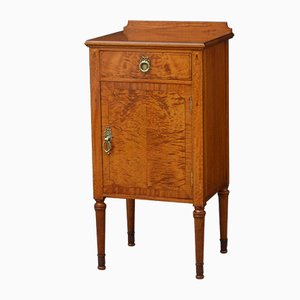 Antique Satinwood Nightstand by Maple & Co