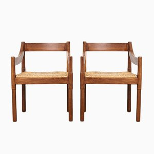 Mid-Century Carimate Dining Chairs by Vico Magistretti for Cassina, Set of 2