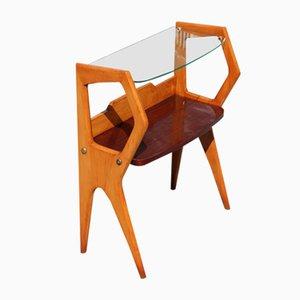 Italienischer Beistelltisch aus Holz, 1950er