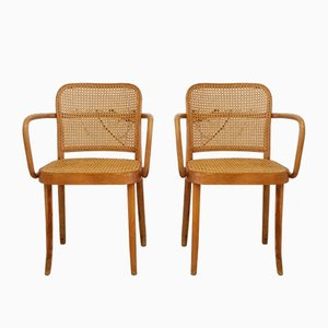 No. 811 Esszimmerstühle von Josef Hoffmann für Thonet, 1950er, 2er Set